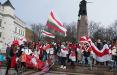 Белорусы Литвы вышли на традиционный воскресный марш в Вильнюсе