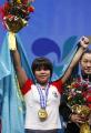 Штангистка из Казахстана Зульфия Чиншанло завоевала золото Олимпиады-2012