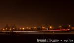 На окраине Гродно прошли ночные гонки экстремалов