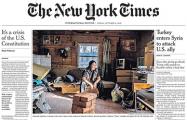 Шаман, хотевший изгнать Путина, попал на первую полосу New York Times