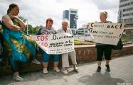 Протестующие против стройки паркинга минчане: Мы боимся, что дом упадет!
