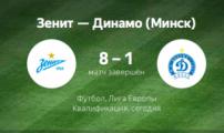«Зенит» «размазал» минское «Динамо» с рекордным счетом