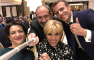 Видеофакт: Макрон, Трюдо и Пашинян станцевали на ужине в Ереване