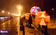 Минчане вышли на акции солидарности