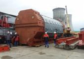 На Белорусскую АЭС доставлен статор турбогенератора для первого энергоблока