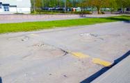 В центре Могилева водители ездят по «стиральной доске»