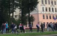 От МТЗ выдвинулась колонна бастующих рабочих