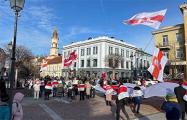 В Вильнюсе прошла акция солидарности с Сергеем Тихановским