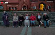 Возле Красного костела женщины провели акцию солидарности