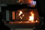 В центре Минска взорвали мотоцикл