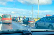 ДТП на могилевской трассе: движение на выезд из Минска сильно затруднено