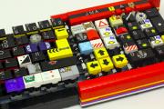 Из деталей «Лего» собрали работающую клавиатуру