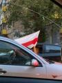 В Минске на акции протеста люди блокируют дороги, в ход пущены водометы с краской