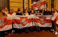 В Санкт-Петербурге белорусы снова вышли на акцию солидарности