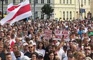 Марши за новую Беларуси охватили областные и районные центры