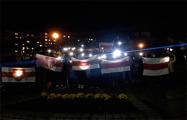 Жители Лиды вышли на вечернюю акцию солидарности