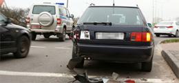 Фотофакт: В Барановичах милицейская машина врезалась в «Ауди»