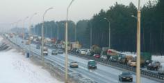 Автодвижение закрывается на двух мостах МКАД с 8 января