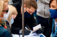 Сотни жителей Волковыска пришли поддержать Тихановских