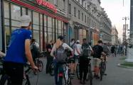 300 велосипедистов прокатились по проспекту Независимости в Минске