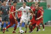 После первого тайма матча футболистов Грузии и Беларуси ничья 0:0