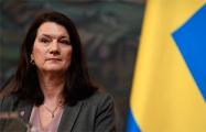 Глава МИД Швеции осудила действия властей Беларуси