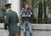 В Минске прошел пикет в поддержку политзаключенных (Фото)