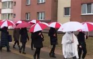 Смелые жительницы Уручья вышли на бело-красно-белый марш