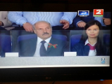 Лукашенко пришел на хоккей с Дарьей Шманай