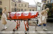 Фотофакт: Транспортировка пациента с коронавирусом в Минске
