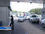На границе с Литвой и Латвией сохраняются очереди грузовых автомобилей