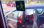 Видеофакт: В Жлобине на мосту произошла страшная авария