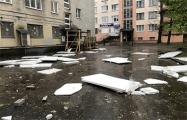 Фотофакт: последствия первой грозы в Могилеве