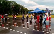 Жители Ветки вышли на митинг в поддержку Тихановской, несмотря на ливень