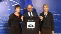Жены политзаключенных встретились с главой Европарламента (Фото, видео)