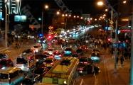 На Немиге возле «Макдональдса» протестующие заблокировали движение