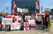 Белорусы Нью-Йорка вышли на митинг в поддержку Куропат