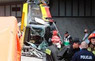 В Варшаве автобус упал с моста