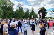 В Калиновичах на митинг собралось очень много людей