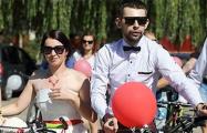 В Гродно прошла свадьба на велосипедах