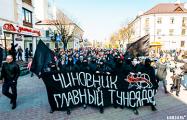Лучшие моменты с массовых протестов в Бресте