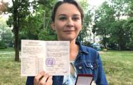 Мінчанка з балам атэстата 10 і 100 баламі па ЦТ: Дома ў нас гучыць толькі беларуская мова