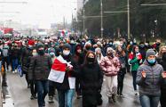 В районе метро «Спортивная» проходит массовый марш
