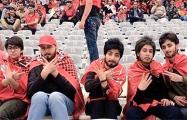 Иранские фанатки переоделись в мужчин, чтобы попасть на футбол