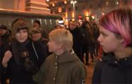 Украинка на площади в Минске: Мне интересна белорусская политика