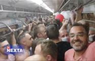 Белорусы сделали экзит-пол в метро