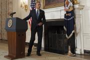 Маленький мальчик задержал выступление Обамы по Ираку