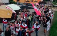Более 300 жителей Сухарево идут маршем