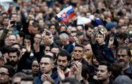 Протесты в Словакии: глава полиции отказался подавать в отставку