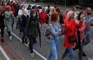 В Гродно колонна протестующих марширует по городу
